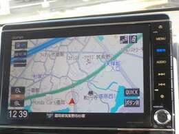 ギャザズの8インチインターナビが付いています。天気予報などの情報がメーター内に表示されます。