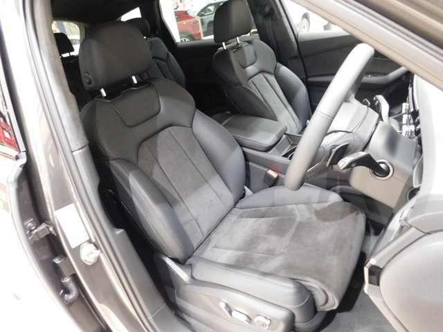 【アルカンターラ/レザー製の専用スポーツシート】 (S-lineと同型)ドイツ車ならではのしっかりしたホールド感で、長時間の走行でも腰や体の疲労がとても少ないです。 シートヒーターを装備しています。