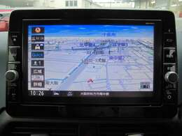 大きい9インチ画面のメモリーナビゲーションではじめての道や知らない道も快適にドライブ!