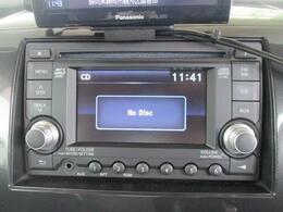 純正CDデッキを装備。お気に入りの音楽を聴きながら毎日の運転をお楽しみ下さい。