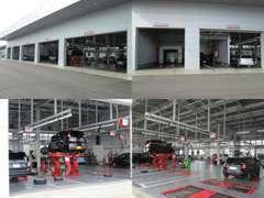 整備工場完備!プロの整備士がお客様の大事なお車をしっかり整備・メンテナンス致します。他メーカー車もお任せ下さい!