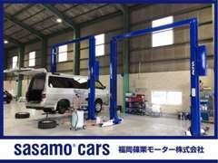 九州運輸局指定の認証工場を完備しています。国家資格を持った整備士が隅々までメンテナンスを行います!