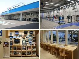 大型の指定工場を併設しており、車検から日常点検まで安心してお任せいただける環境を整えております。待合スペースでは、愛車の整備風景をご覧いただく事も可能です♪