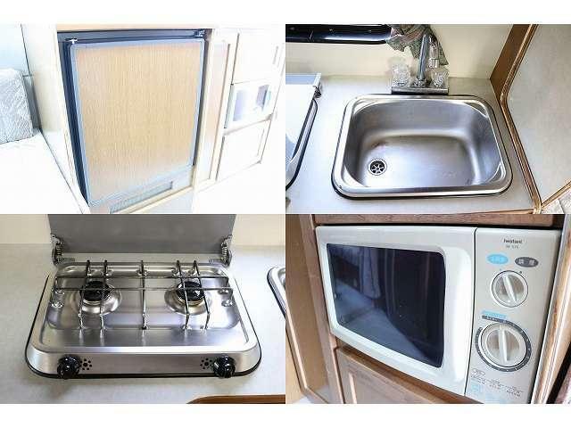 冷蔵庫 シンク コンロ 電子レンジと重質装備となっております。
