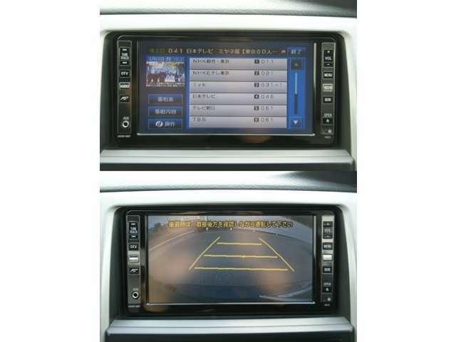 TVを視聴することができます。バックカメラが付いていますので、駐車をする際とても便利です。