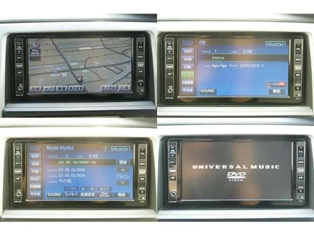 純正HDDナビです。別途料金にてナビの取り付けも可能です。CDを録音することができます。録音した音楽を聴くことができます。DVDを視聴することができます。