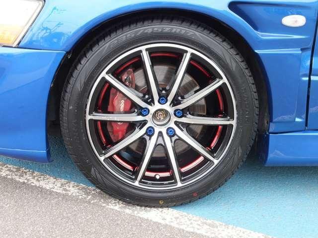 新品アルミホイール・タイヤ ブルーアルミ軽量ロックナット付