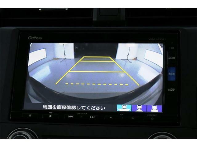 初めてのお車でも安心のバックカメラ付き☆後方の映像がナビ画面からご確認いただけます♪