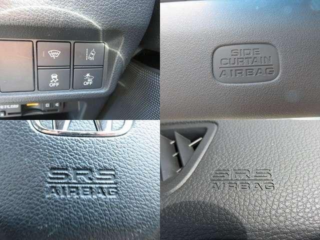 サイドエアバックやWエアバッグはもちろんの事、横滑り防止機能も装備しているので、安全性も高いです!車両の急激な挙動変化を抑える機能で、安定した走行が実現できます!運転に安心とゆとりが生まれますよ!