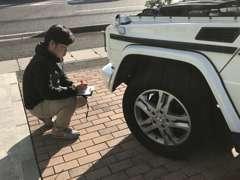 お車の買取査定、注文販売の車のチェックはご安心ください!担当営業やその他のスタッフがチェックいたします!(営業:籠尾凌)