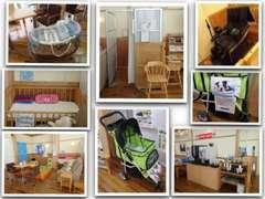 店内は授乳室、ベビーベッド、キッズコーナー、マッサージチェアにワンニャンカートと皆様に楽しんでいただける空間です。