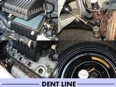 整備では点検・清掃・修理・交換などを行います。当店ではスペアタイヤの空気圧までしっかりと点検を致します。