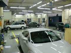 県内全域のアウディ車メンテナンスをカバーしているピットです。