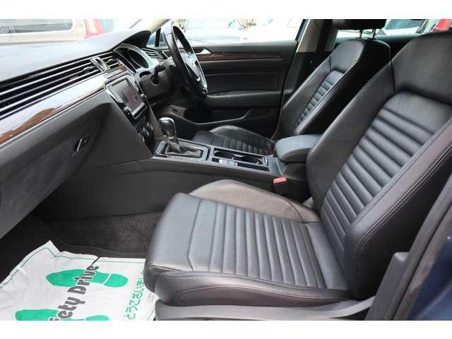 ナパレザーシートに、シートヒーターやベンチレーション(エアーシート)、マッサージ機能などを標準装備した「TSIハイライン」!