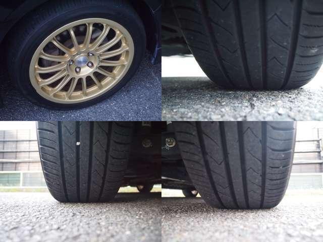 OZレーシング17インチアルミ付き。。。タイヤの残り溝もバッチリ♪♪♪