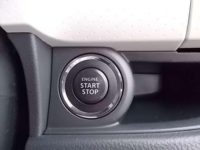 ボタン一つでエンジンの始動が出来ます