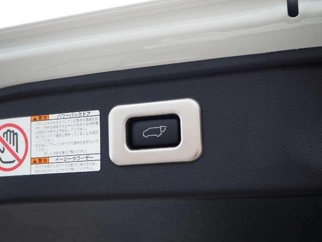 メーカーOP★パワーバックドア(挟み込み防止機能付)・・スイッチひとつでバックドアを自動開閉。操作はスマートキー、オーバーヘッドコンソール部、バックドア下端部の各スイッチで行えます。  OP価格約5万