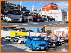 常時40台オーバーの展示車輌!!広々展示場です。納得行くまでご覧下さい。
