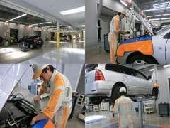 購入後も安心! 整備は当店の認証工場にお任せください。