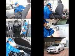 当社のVolkswagen認定中古車は、外装はもちろん内装も徹底してクリーニングを行っております。