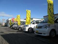 2013年10月、カープロデュース愛車館・伏古店がOPENいたしました!高品質・低価格の在庫を常時展示しております!