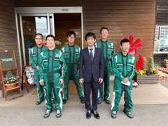 中村サービスマネージャーを中心として、お客様の「安心・安全」をフルサポート!