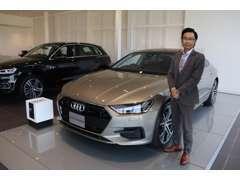 Audi久留米では古賀、岩本、市野澤の3名体制でお世話致します。些細なことでもお気軽に私達までご相談ください。