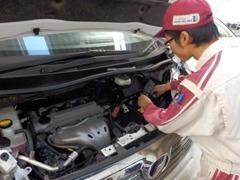 トヨタ認定整備士がご購入後の点検整備や車検・診断などお車のコンディションをしっかりサポート 安心してお任せください!