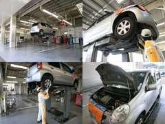 トヨタの厳しい検定に合格したエンジニアが整備いたします!納車前の点検車検、納車後のアフターもお任せください☆