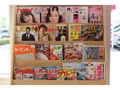 ☆最新女性雑誌・趣味の雑誌・グルメ雑誌も用意してあります。特にグルメ雑誌は充実してますよ^^