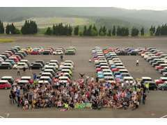ドゥテツ恒例の「スーパーツーリング」年に2回開催!!参加台数120台以上。ご参加下さい!!いろんなミニに出会えます。