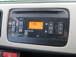 純正オーディオ付き!CD・ラジオの再生ができます。