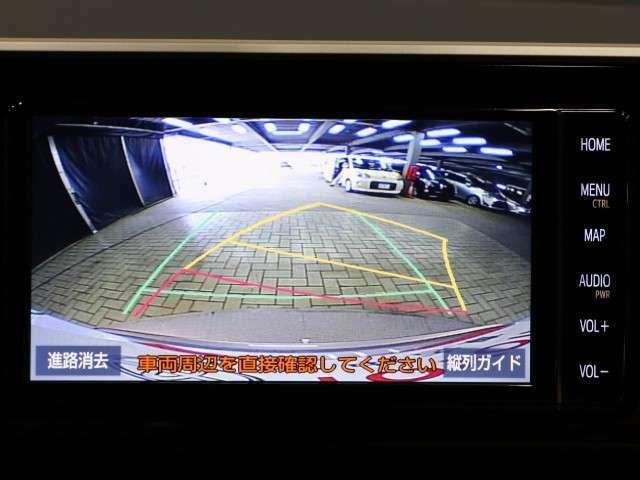 見えない所が画面で確認できるバックガイドモニター!車庫入れも安全、安心して行えます!