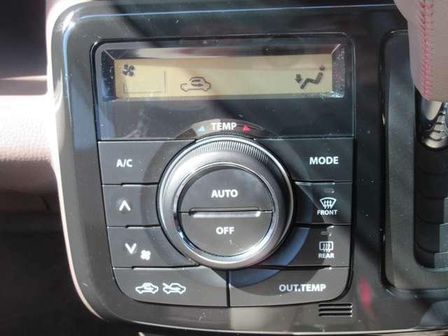 エアコンを装備しています。温度調節はダイヤルを回し、その他の操作はボタンでできます。