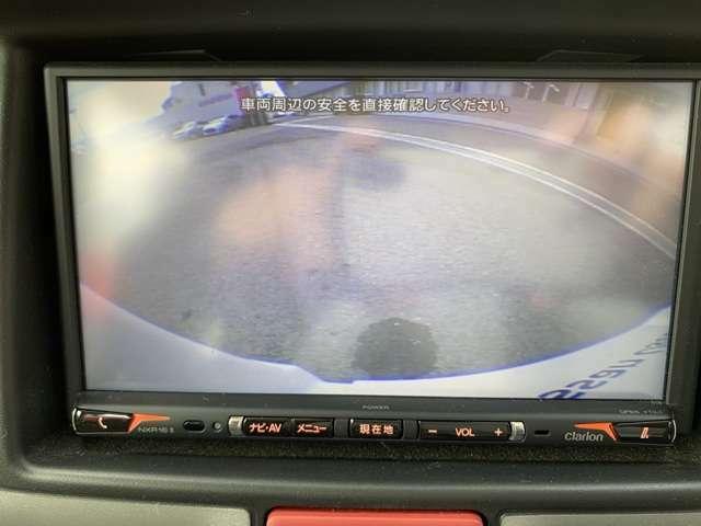 【バックカメラ付き】ナビゲーションに後方の様子が映ります。車庫入れが苦手な方や、雨の日、夜間に駐車される際に大活躍してくれます!