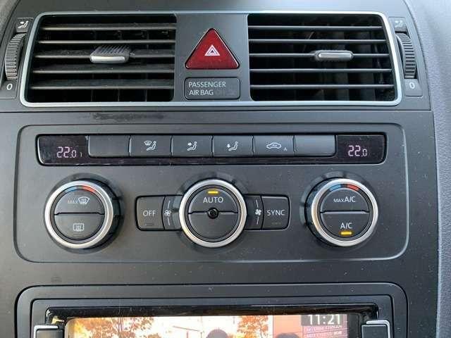 いつでも車内が快適なオートエアコンのお車です。