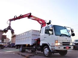 三菱ふそう ファイター UNICパルクレーンスクラップ運搬車 積載5トン15立米・ローテータグラップル付