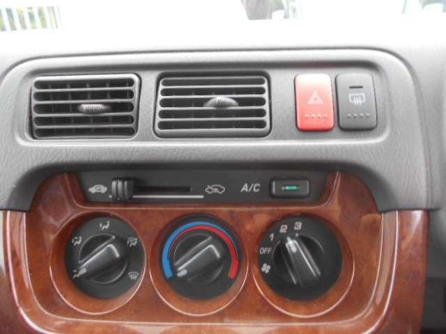 こちらで空調管理を行うことが出来ます。ワンタッチで空調調整できると便利ですよ。