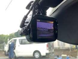 ドライブレコーダー前後搭載!万が一の交通事故を記録するだけでなく、前後の煽りや危険運転へのけん制の効果も見込めます!