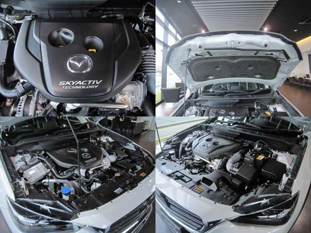 心臓部1.8LスカイアクティブDは、革新的技術の向上により、これまでのディーゼルエンジンの課題である騒音、黒煙、振動などのネガティブなイメージを払拭し、伸びやかな加速と低燃費を両立しております。