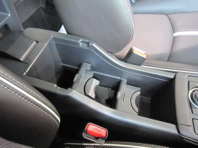 センターアームレストには、収納も兼ねたドリンクホルダーを装備。後席にもドリンクホルダー付きのアームレストを装備しております。