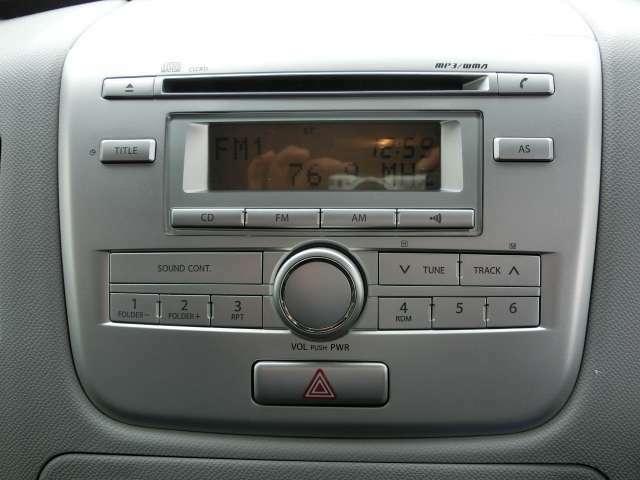 純正CD付!もちろんAM/FMラジオも聴けます!