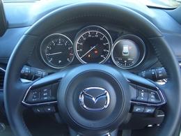 スピード表示やナビゲーションのルート案内をしてくれるアクティブドライビングディスプレイ。