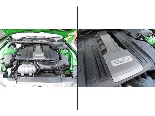 マスタング伝統のV8 5.0エンジンです!また2019年モデルよりオプションにて設定が可能となった10ATを採用!従来の6ATと比較しギア比が圧縮されているため、NAエンジンながらもターボ車なみの加速を可能にしました!