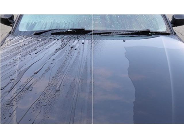 Bプラン画像:ボディに付着した水垢、鉄粉、その他汚れや、洗車傷等を入念に除去して下地処理をした後、コーティング剤で表面を保護します。ボディの輝きが増し、洗車の手間が軽くなり、常に愛車をピカピカに保てます!