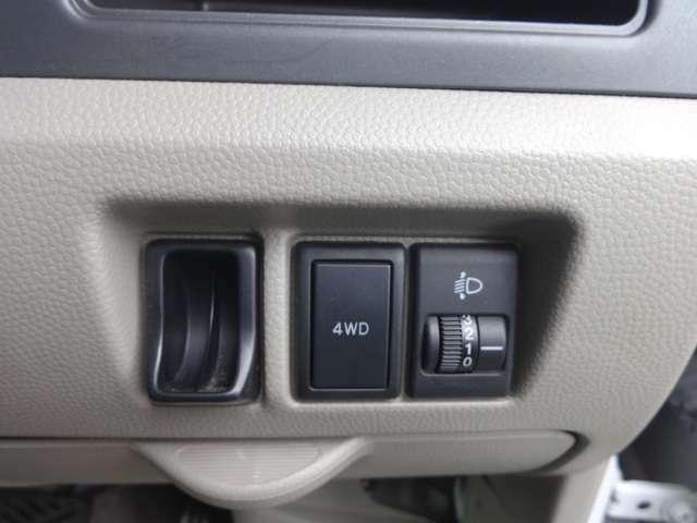 4WDの切り替えスイッチはコチラです。