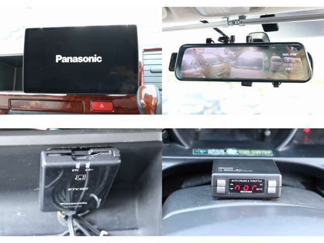 パナソニックナビ フルセグTV DVD・CD・SD再生 Bluetooth接続 バックカメラ ドライブレコーダー ETC ピポッドスロットルコントローラー クルーズコントロール