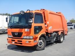 UDトラックス コンドル プレス式パッカー車 増トン 容積8.2立米 塵芥車 6.6t 連続スイッチ
