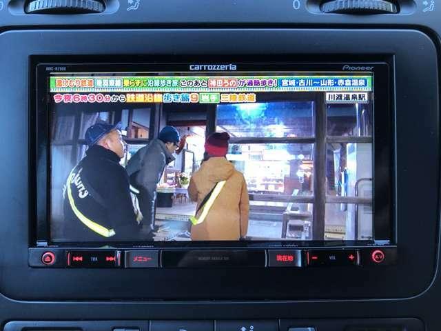 カロッツェリア・AVIC-RZ900を装備♪フルセグTV見れます♪DVD見れます♪CD聴けます♪ラジオ聴けます♪道案内もしてくれます♪頼もしい1台です♪