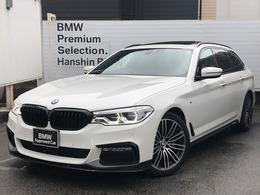 BMW 5シリーズツーリング 523d Mスポーツ ディーゼルターボ 認定保証1オナ黒レザーサンルーフACC地デジ